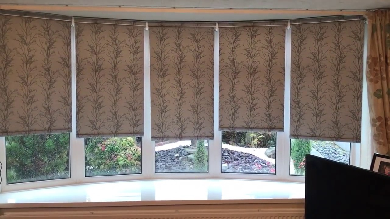 Motorised Roller Blinds For A Bay Window