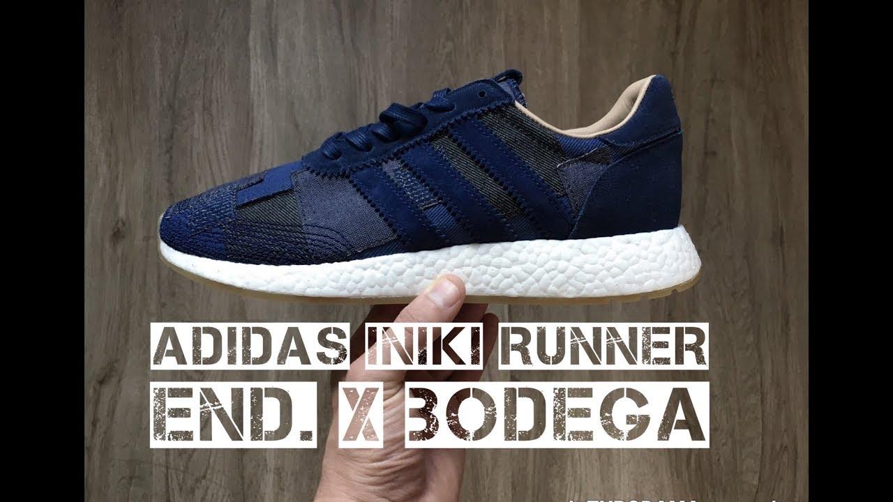 quality design 79b67 e9741 Adidas Iniki Runner Bodega x End. Boro denim pack  UNBOXING  ON FEET   fashion shoes  2017  HD