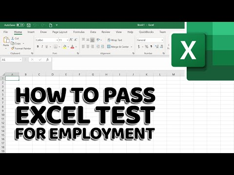 How To Pass Excel Assessment Test For Job Applications - Step By Step Tutorial With XLSX Work Files