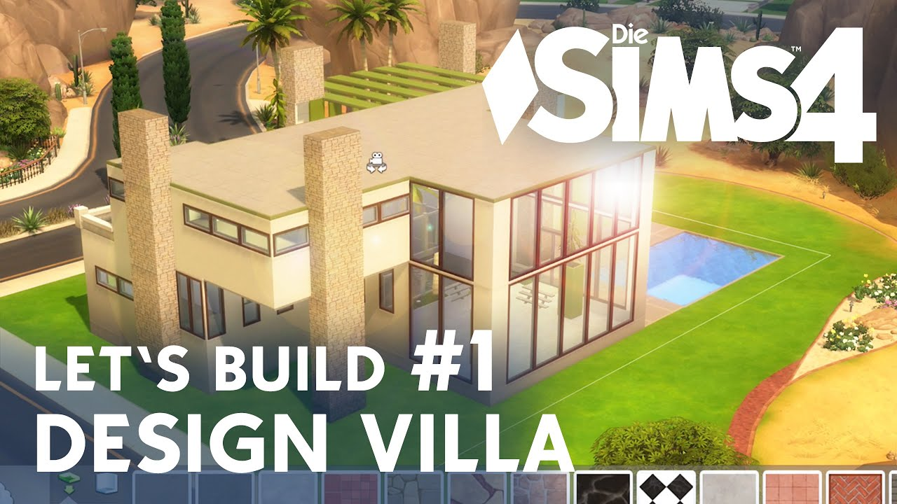 die sims 4 let 39 s build design villa 1 idee grundriss youtube. Black Bedroom Furniture Sets. Home Design Ideas