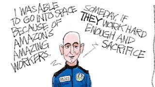 5 scathingly funny cartoons about Jeff Bezos' space odyssey