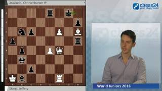 Spectacular Game from the World Juniors: Xiong vs. Aravindh