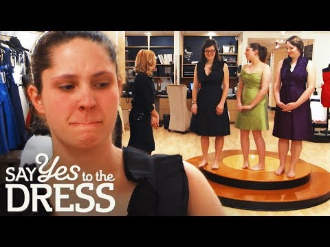 Bridesmaid Tears Up After Admitting She Can't Afford Dress | Say Yes To The Dress Bridesmaids. http://bit.ly/2JHxj9e