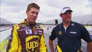 Lee Westwood vs Carl Edwards - Golf vs NASCAR - Battle of the Drivers!