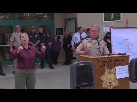 Mendocino and Lake County Fire Emergency Press Conference 10/10/2017 Afternoon