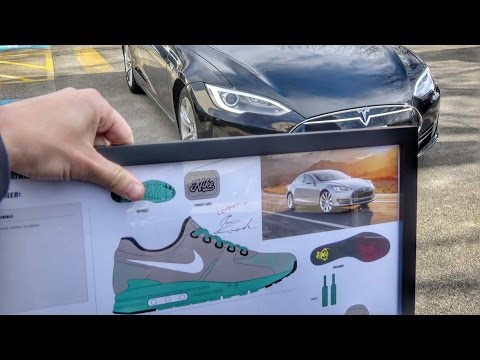 Electric car inspired NIKE shoes!!