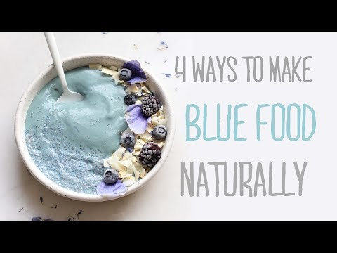 HOW TO: 4 Natural Blue Food Dye Methods ��