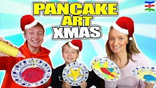 XMAS Pancake Art Challenge - Eltern vs. Kids Edition 😁 TipTapTube