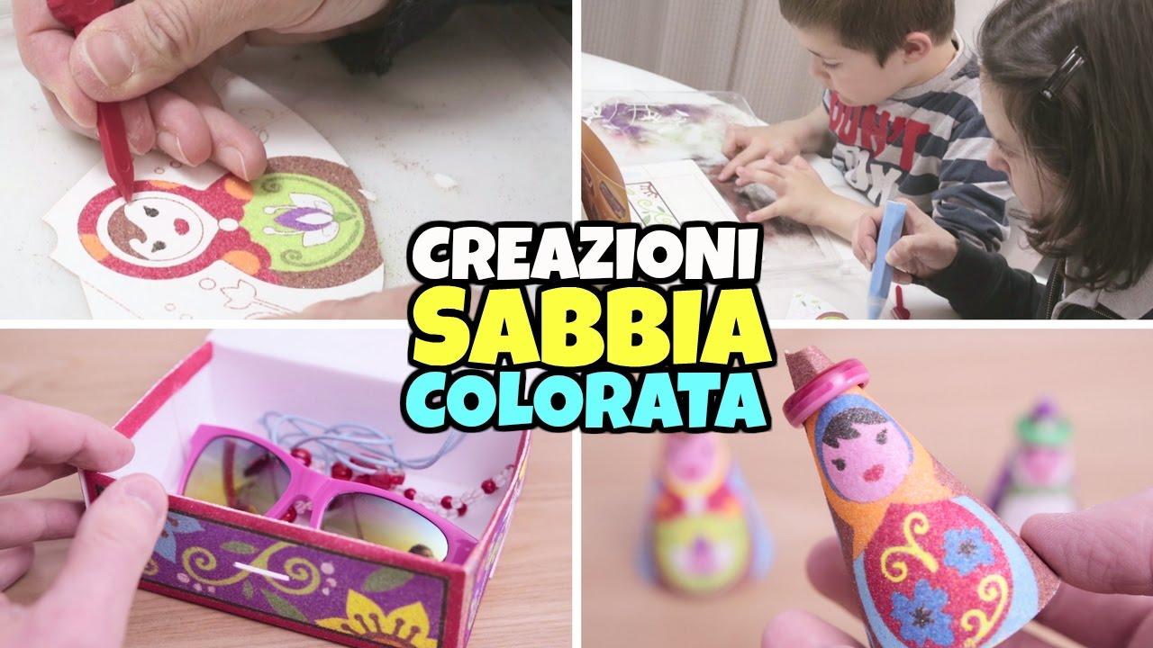 Creazioni Con Sabbia Colorata Idea Sabbiarelli Festa Della Mamma