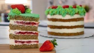 🌿ВЕСЕННЕ - ЛЕТНИЙ🍓  клубничный торт- Я - ТОРТодел!