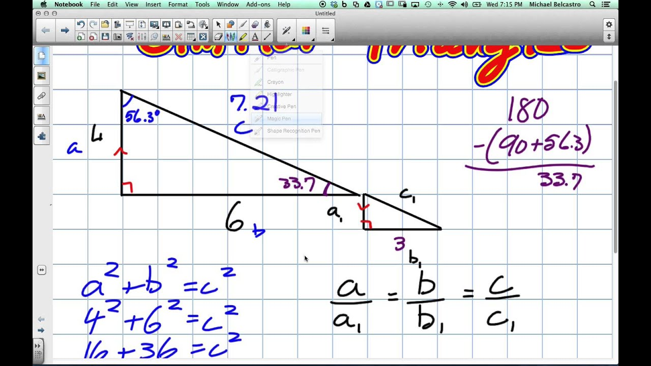medium resolution of Similar Triangles Grade 10 Academic Lesson 7 1 5 21 14 - YouTube