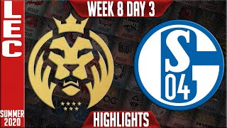 MAD vs S04 Highlights | LEC Summer 2020 W8D3 | MAD Lions vs Schalke 04