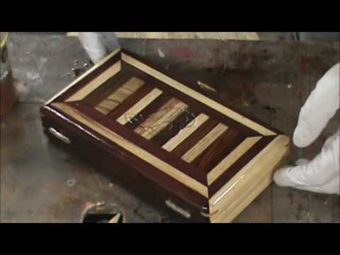Purpleheart and Ash Ring and Jewelry Box