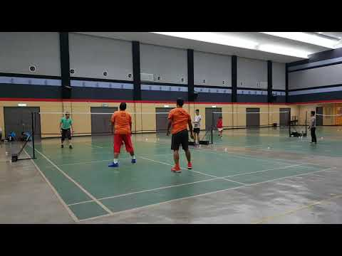 Badminton Friendly Match LENO & RINO VS FBT KERAMAT (first Game)