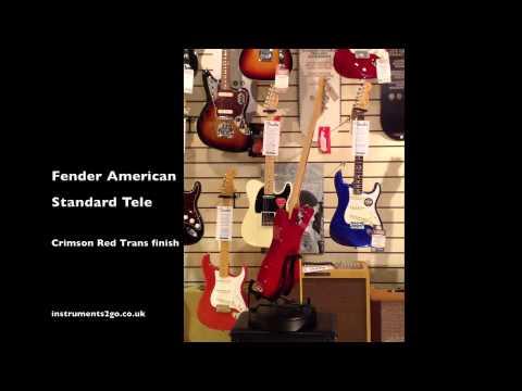 Fender American Standard Telecaster Crimson Red Transparent 360° View