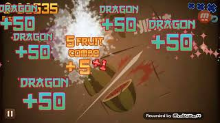 Fruit ninja crazy disco: only dragon fruits (you can download in the description and for instruction