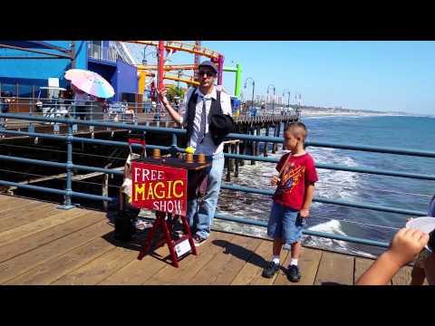 Magic show at Santa Monica 2015