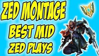 Face of Shadows - ZED MONTAGE - Best Mid Zed Plays ( League of Legends ) #1