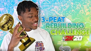 THE 3 PEAT REBUILDING CHALLENGE IN NBA 2K20