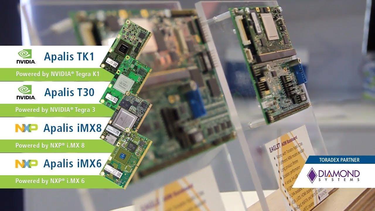 Diamond Systems' Eagle family of SBCs based on Toradex's Apalis Modules