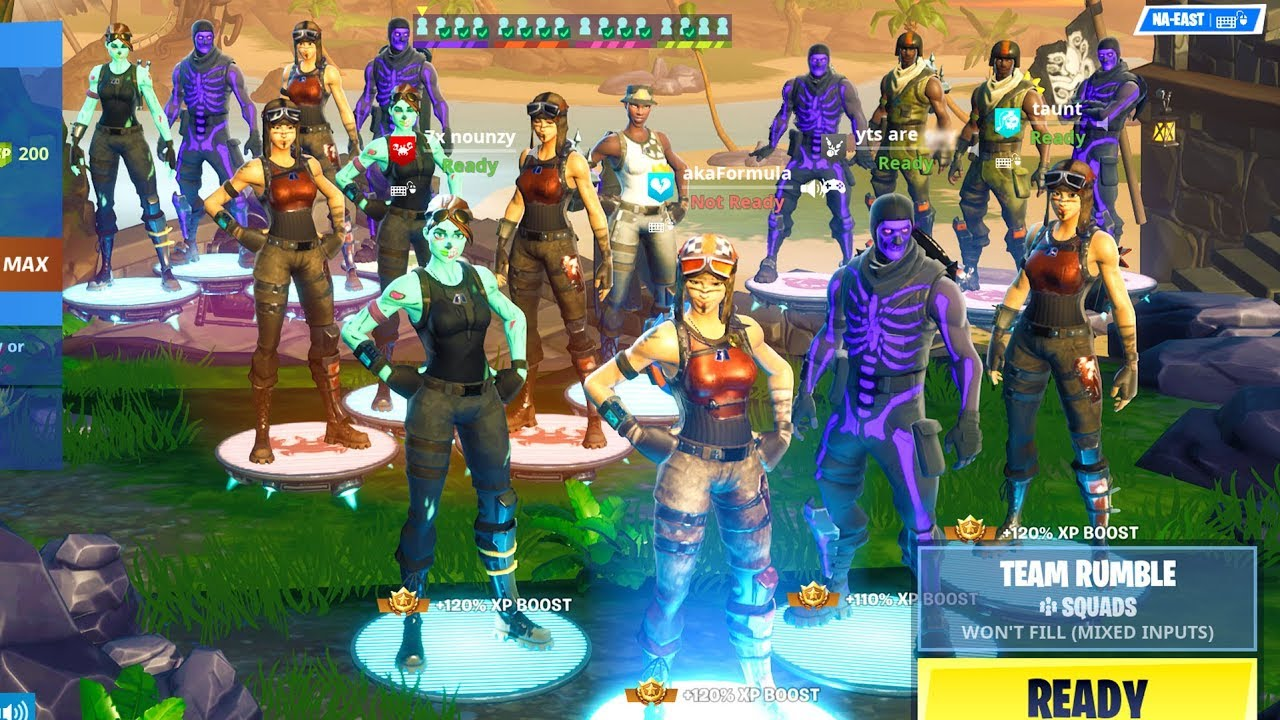 We Got 16 Og Fortnite Skins In One Game And This Happened Rarest Skins