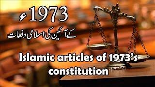 Islamic Articles of 1973's Constitution in Urdu/Hindi - Pakistan Studies