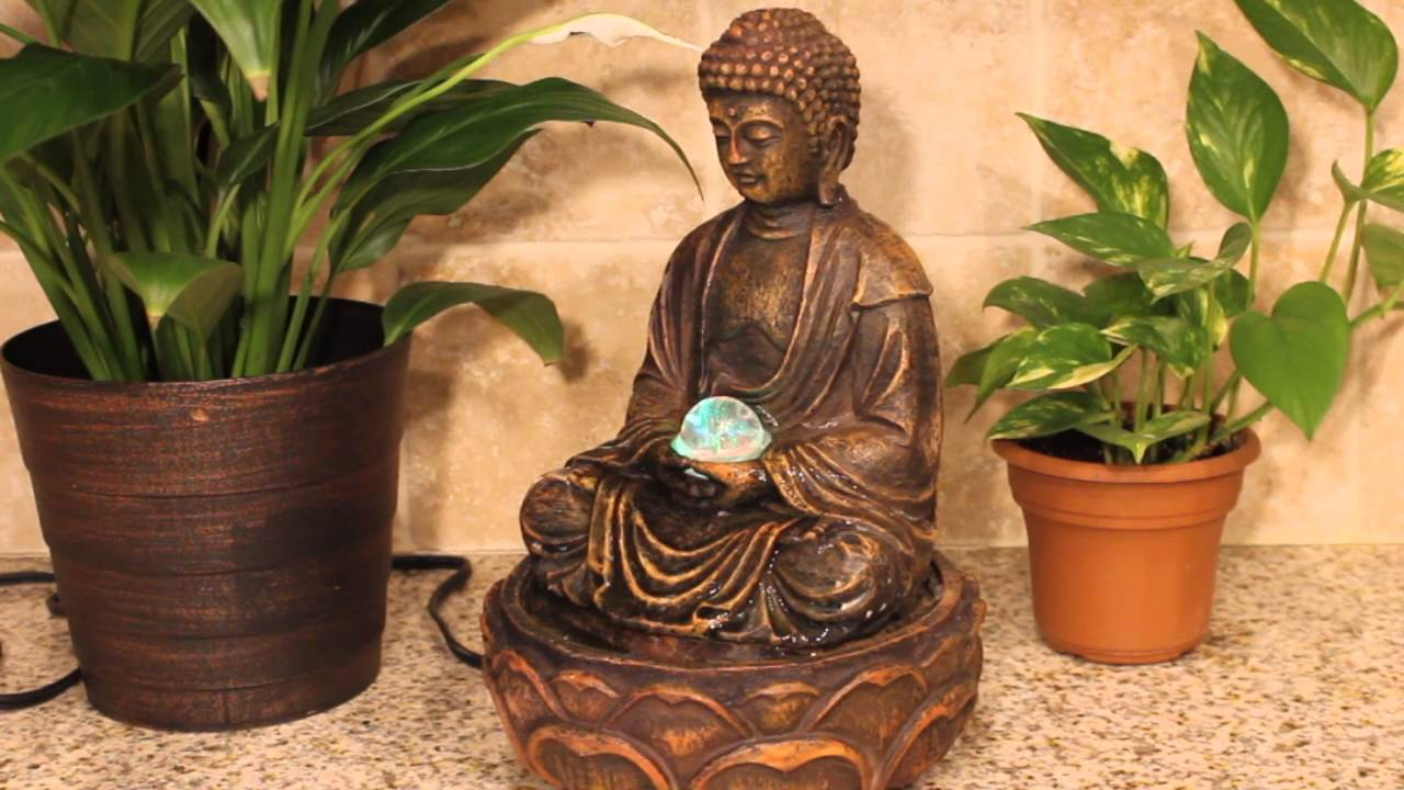 Buddha indoor tabletop water fountain youtube buddha indoor tabletop water fountain workwithnaturefo