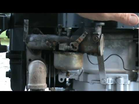 Briggs And Stratton Early Vertical Carb Adjustment Youtube