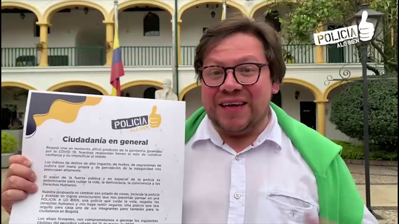 ¡Por una policía a lo bien!: la propuesta de Cancino frente a la inseguridad en Bogotá