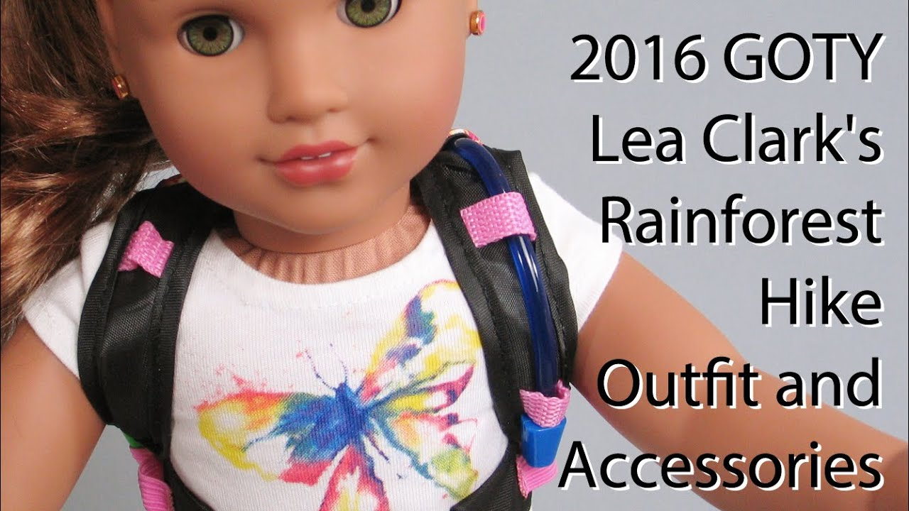 American Girl Lea Clark Hike Outfit /& Accessories Lot GOTY 2016 New in Box