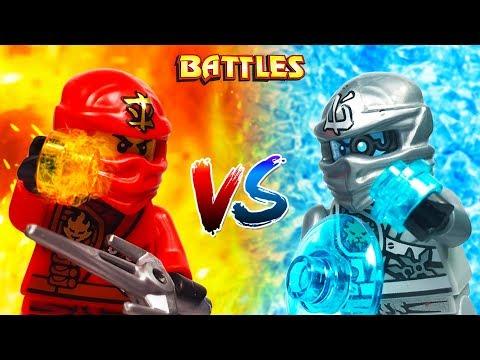 Lego Ninjago: Kai vs Zane (Zukin)