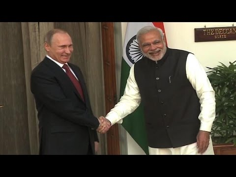 Russia's Putin visits India to boost energy, trade ties