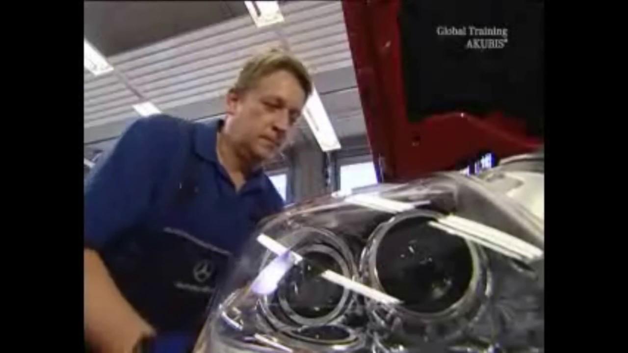 Замена фар головного света Mercedes-Benz SLК-Class Replacing headlamp