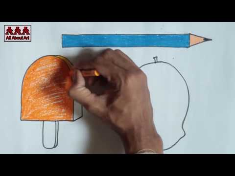 Online drawing classes - how to draw - lesson 2 - (for 2 to 5 years old)  in hindi