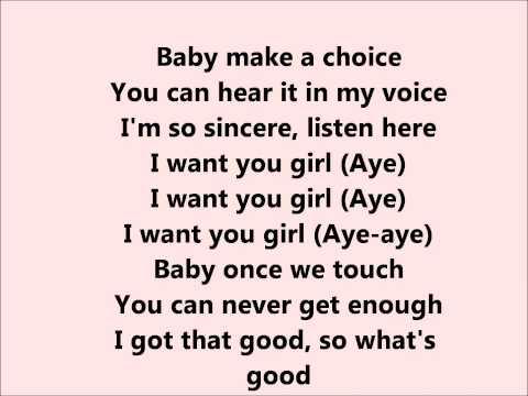 Trey Songz - I want you - Lyrics