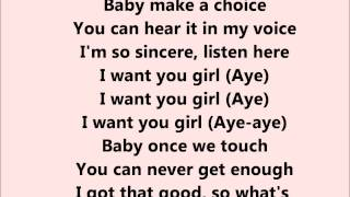 Trey Songz - I want you - Lyrics