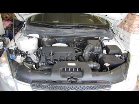 Kia Ceed ED 2008г.в. звук работы двигателя до замены цепи, натяжителя.