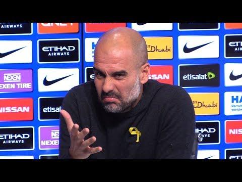 Pep Guardiola Pre-Match Press Conference - Tottenham v Manchester City - Embargo Extras