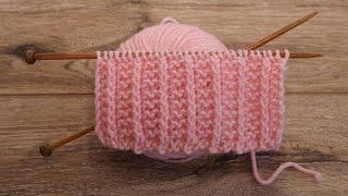 Двухсторонний узор для шарфа спицами | Double-sided knitting pattern for scarf