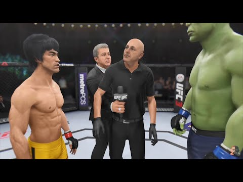 BRUCE LEE VS HULK 2K18 UNBELIEVABLE WAR!!! | EA Sports UFC 3