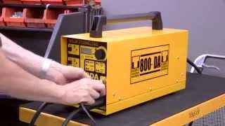 Setting up the 800DA Stud Welding Equipment