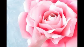 How to Make Giant Paper Roses- Rose Tutorial & Templates