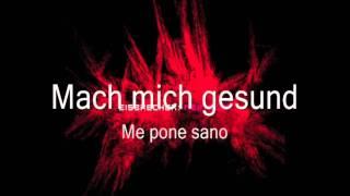 Eisbrecher Mein Blut Letras Alemán Español