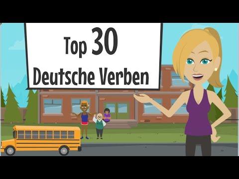 Deutsch Lernen💪Top 30 - Die Wichtigsten Verben! Nach Dieser Deutschlektion Sprichst Du Deutsch!