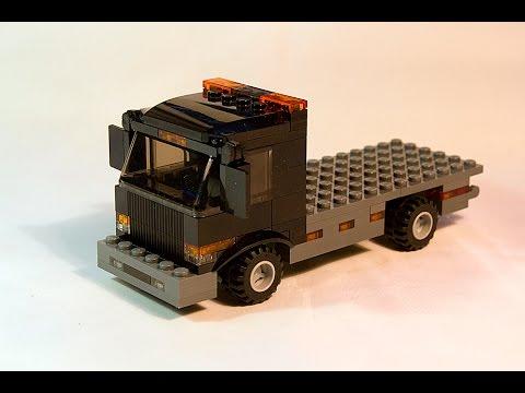 Lego Building Instructions Lego Flatbed Truck Moc Youtube