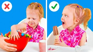 Cute And Clever Parenting Tricks To Be Friends With Your Kids || Kids Training And Food Tricks