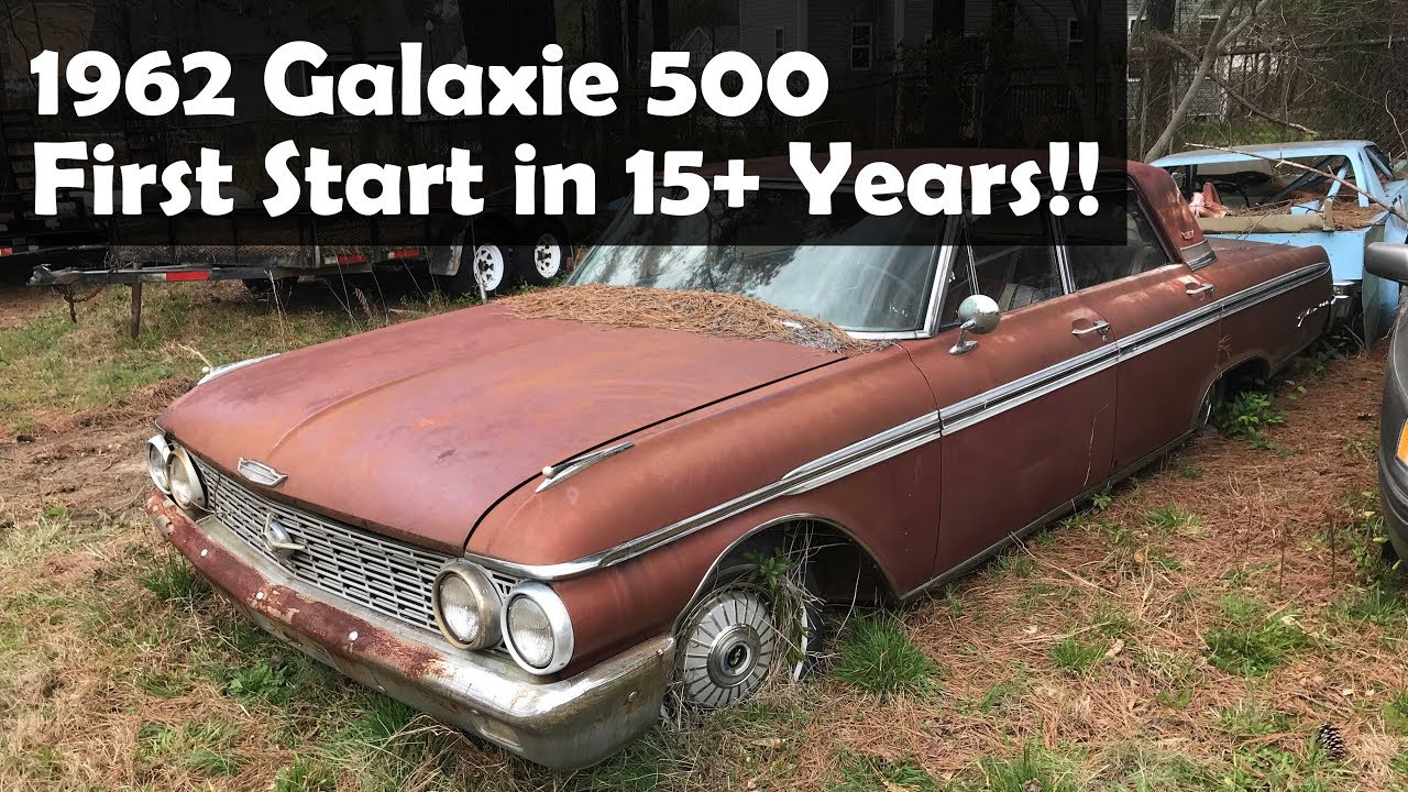 1962 Ford Galaxie 500 First Start After Sitting 15 Years