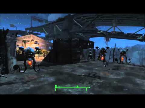 Fallout 4 - Graygarden (glitch) - robots (mr handy's) trim invisible plants