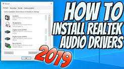 How To Install Realtek HD Audio Drivers In Windows 10 2019 Tutorial