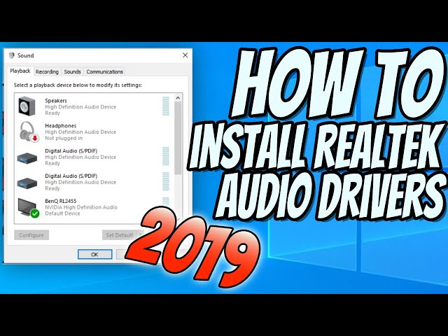 intel high definition audio driver not installed